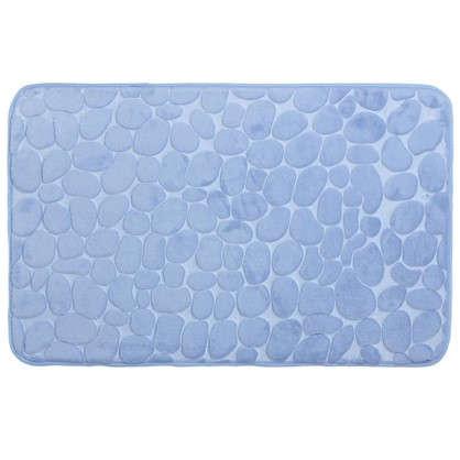 Коврик для ванной Grampus 80х50 см цвет голубой
