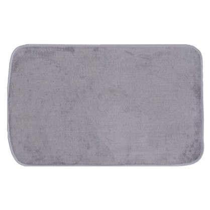 Коврик для ванной 48х75 цвет серый