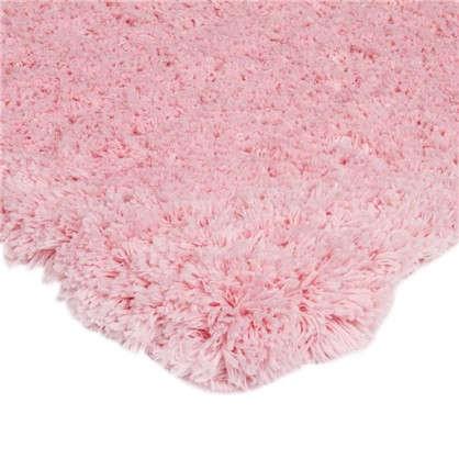 Коврик для ванной 60х90 см цвет розовый