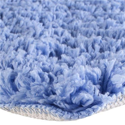 Коврик для ванной 60х90 см цвет синий