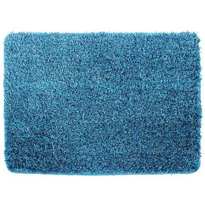Купить Коврик для ванной Amadeo 50x70 см цвет синий дешевле