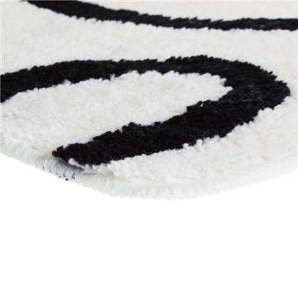 Коврик для ванной Black and White 80х50 см цвет белый