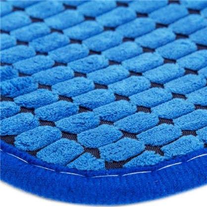 Купить Коврик для ванной Corn 40х60 см цвет синий дешевле