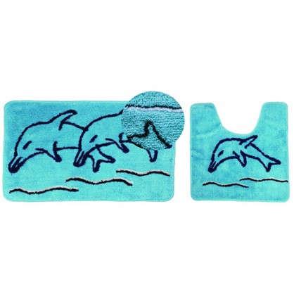 Коврик для ванной Дельфин 50х80 см цвет зелёный