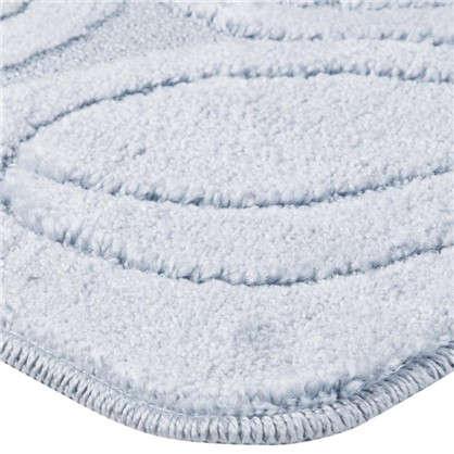 Коврик для ванной Flora 50х80 см цвет голубой