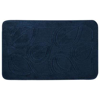Коврик для ванной Flora 50х80 см цвет синий