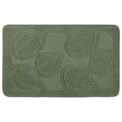 Коврик для ванной Flora 50х80 см цвет зелёный