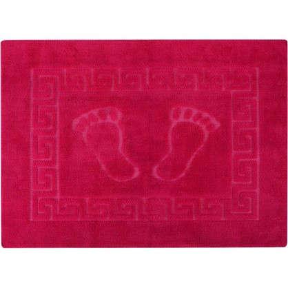 Коврик для ванной Foot 50x70 см цвет розовый