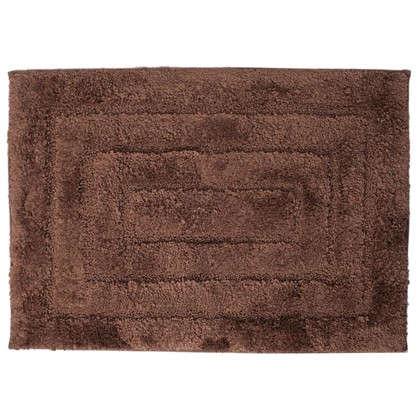 Коврик для ванной Grampus 45х65 см цвет коричневый