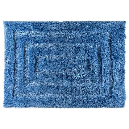 Коврик для ванной Grampus 45х65 см цвет синий
