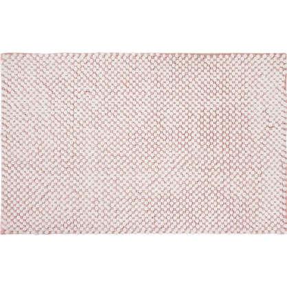 Коврик для ванной Lolly 50х80 см цвет белый/розовый