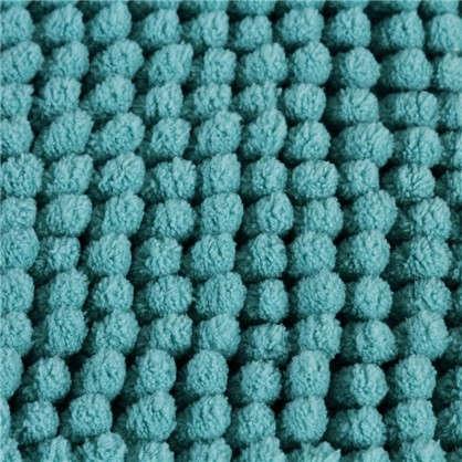 Коврик для ванной Merci 45х70 см цвет бирюзовый