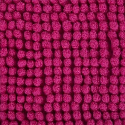 Коврик для ванной Merci 45x70 см полиэстер цвет малиновый