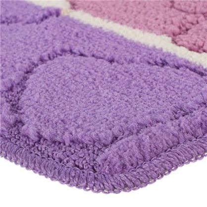 Коврик для ванной Multi 50х80 см цвет лиловый