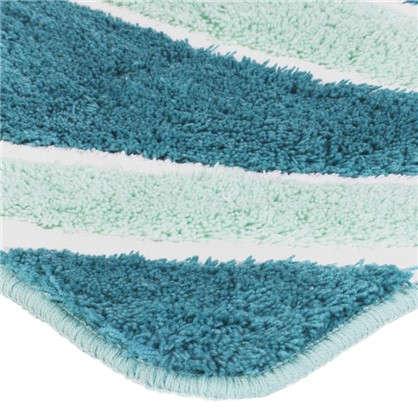 Коврик для ванной Новая Волна 60х90 см цвет зелёный