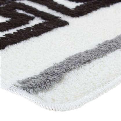 Коврик для ванной Орнамент 50х80 см цвет белый/чёрный