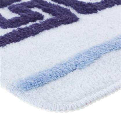 Коврик для ванной Орнамент 50х80 см цвет голубой