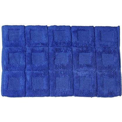 Купить Коврик для ванной Quadratto 60х90 см цвет синий дешевле