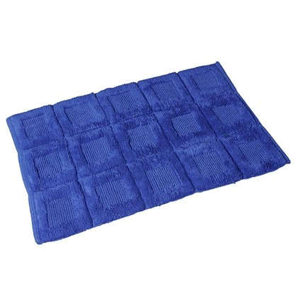 Коврик для ванной Quadratto 60х90 см цвет синий