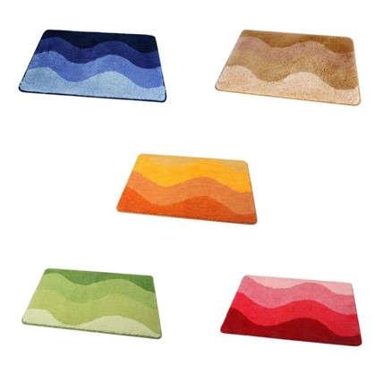 Коврик для ванной Rainbow 50х70 см цвет голубой