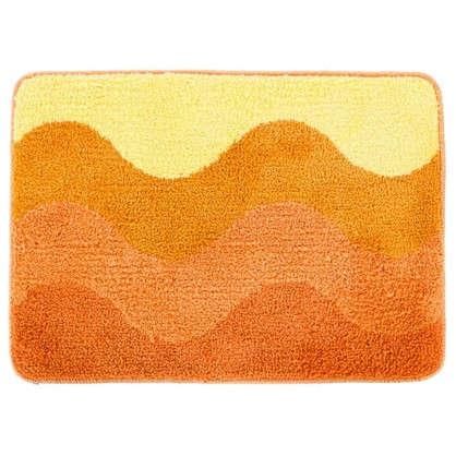 Коврик для ванной Rainbow 50х70 см цвет оранжевый