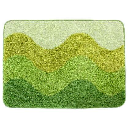 Коврик для ванной Rainbow 50х70 см цвет зелёный