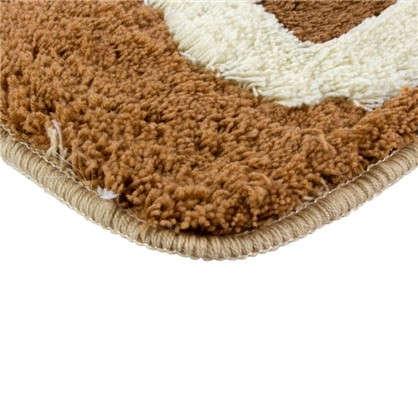 Коврик для ванной Сафари 60х90 см цвет коричневый