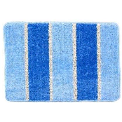 Коврик для ванной Sera цвет голубой