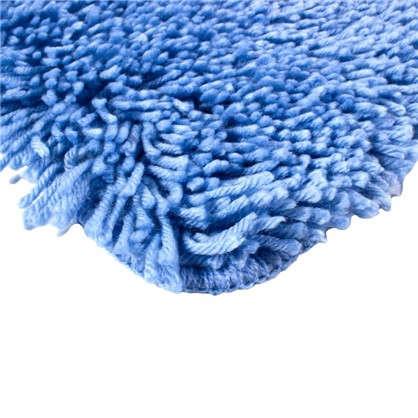Коврик для ванной Shaggy 70х100 см цвет голубой