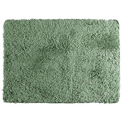 Коврик для ванной Shaggy 70х100 см цвет зелёный
