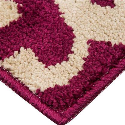 Коврик для ванной Узоры 50х80 см цвет фиолетовый