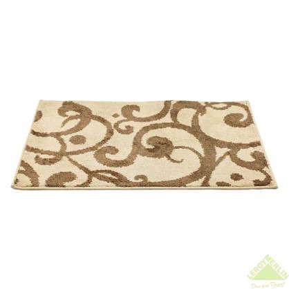 Коврик для ванной Узоры 50х80 см цвет коричневый