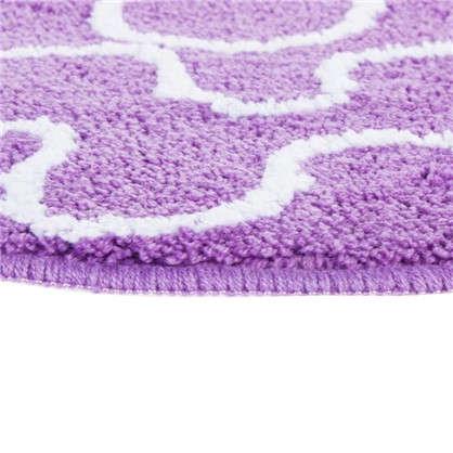 Коврик для ванной Wave круглый 60х60 см цвет фиолетовый