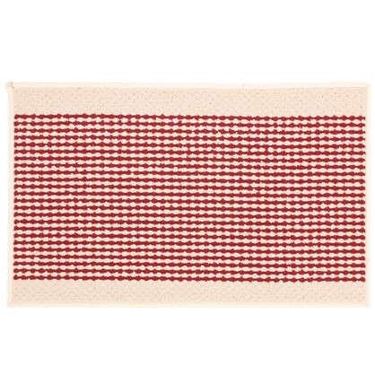 Купить Коврик Париж 50х80 см нейлон цвет бордовый дешевле