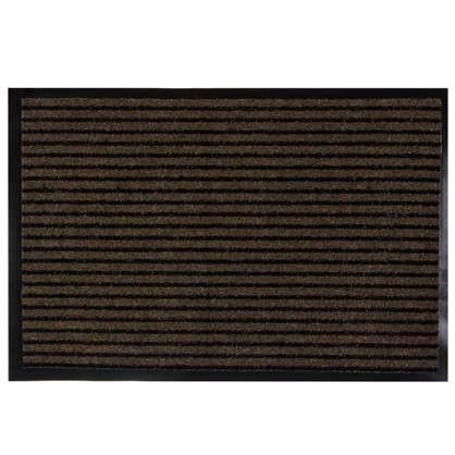 Купить Коврик придверный Grattant полипропилен/ПВХ 60x90 см цвет коричневый дешевле