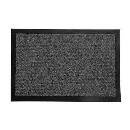 Купить Коврик придверный Olympia полипропилен 40х60 см цвет серый дешевле