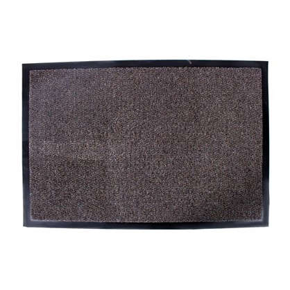 Купить Коврик придверный Olympia полипропилен 60x90 см цвет коричневый дешевле