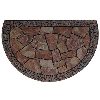 Купить Коврик придверный Stones полукруг резина 58х90 см дешевле