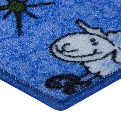 Купить Ковролин Овечки 203 полиамид 3 м цвет голубой дешевле