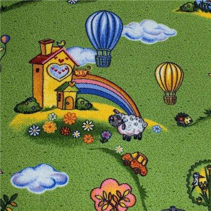 Купить Ковролин Воздушные шары 170 полиамид 2.5 м цвет зелёный дешевле