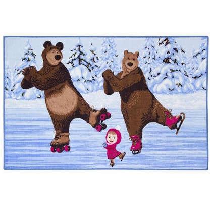 Купить Коврик Маша и Медведь на льду размер 1х15 м дешевле