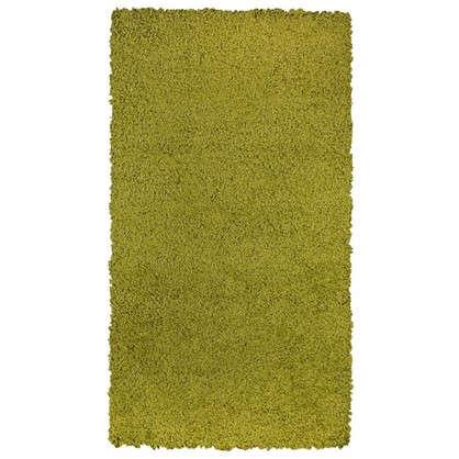 Ковер Shaggy Ultra 0.8х1.5 м полипропилен цвет зеленый
