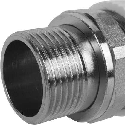 Купить Кран для радиатора угловой 25х3/4 наружная резьба полипропилен дешевле