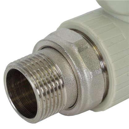 Кран шаровый FV-Plast для радиатора прямой 25х3/4 наружная резьба полипропилен