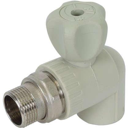 Купить Кран шаровый FV-Plast для радиатора угловой 25х3/4 наружная резьба полипропилен дешевле