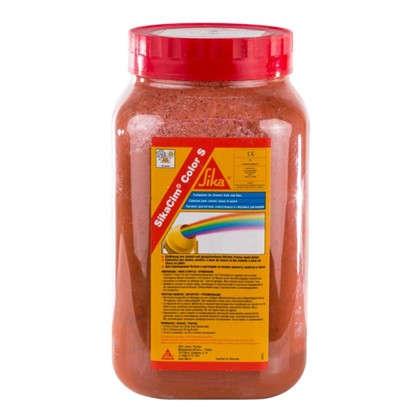 Купить Краситель для бетона и смесей Sika SikaCim Color 0.8 кг цвет красный дешевле
