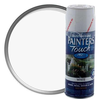 Краска аэрозольная Paint Touch глянцевая цвет белый 340 г