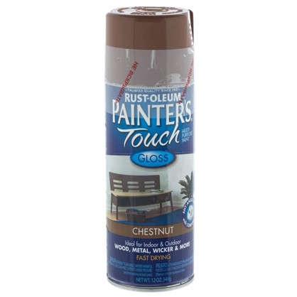 Краска аэрозольная Paint Touch глянцевая цвет каштановый 340 г