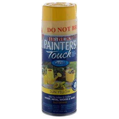 Купить Краска аэрозольная Paint Touch глянцевая цвет желтый 340 г дешевле