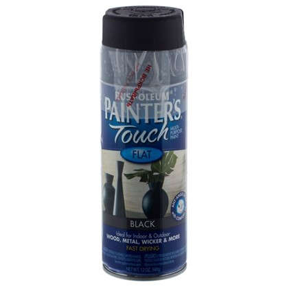 Краска аэрозольная Paint Touch матовая цвет черный 340 г